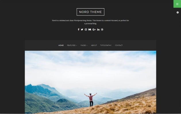 Nord - 37+ Nice WordPress Photography Blog Themes [year]