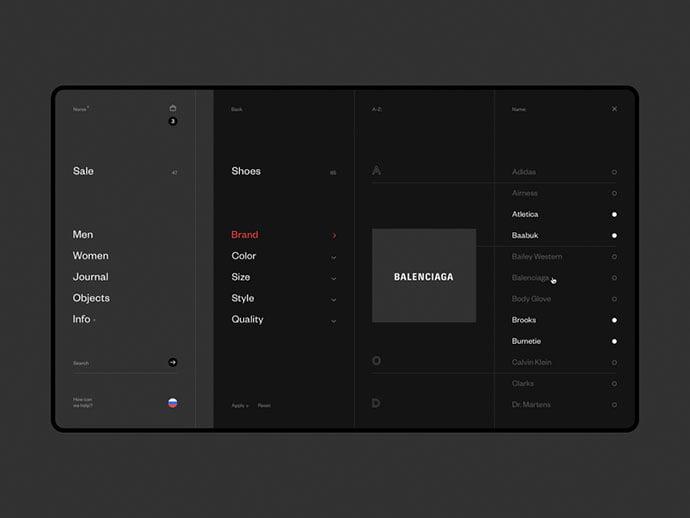 Norse-Store.-Filter. - 63+ Incredible Free Black & White Web UI Designs [year]