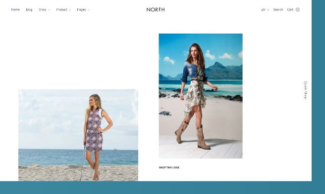 North - 51+ Awesome WordPress Lookbook Ecommerce Themes [year]