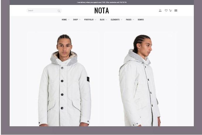 Nota - 51+ Awesome WordPress Lookbook Ecommerce Themes [year]