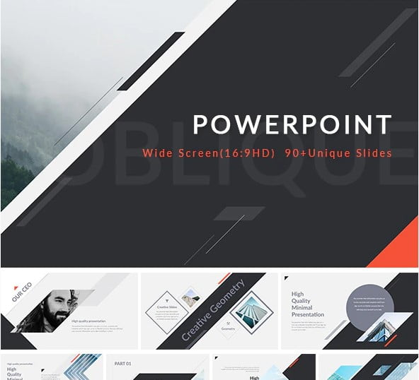 Oblique - 36+ Awesome Abstract PowerPoint Templates Download [year]