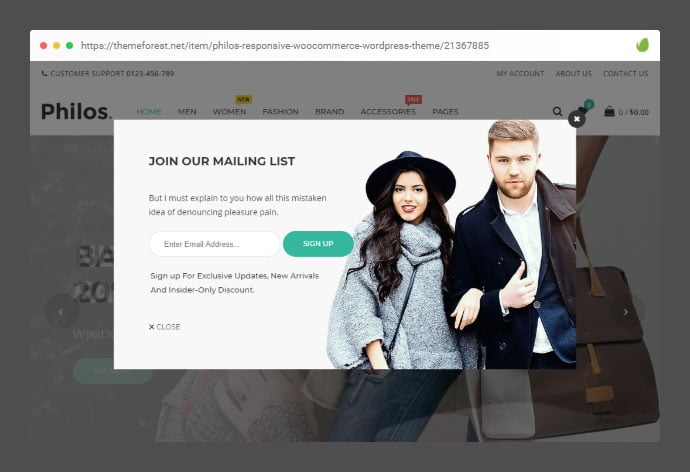 Philos - 36+ Important WordPress Ecommerce Themes For Popup Designs [year]
