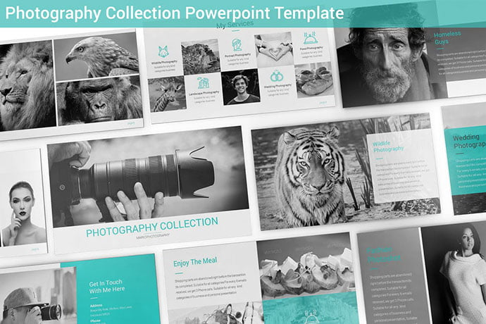 Photography-Collection - 36+ Nice PowerPoint Portfolio Showcasing Templates [year]