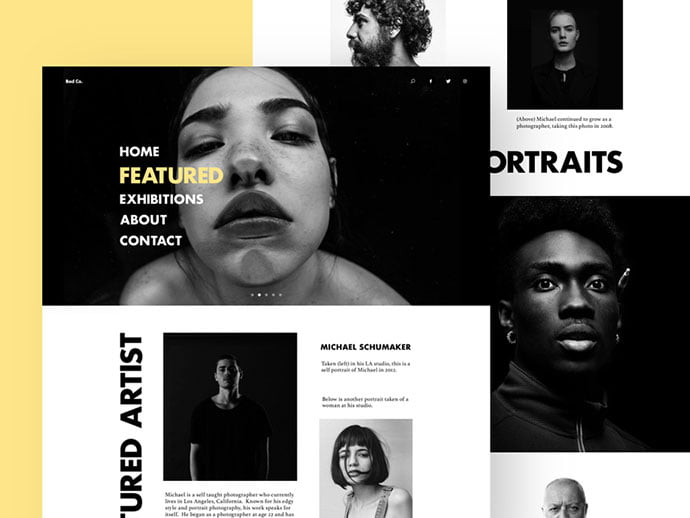 Photography-Site-Layout - 63+ Incredible Free Black & White Web UI Designs [year]