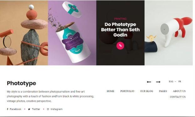 Phototype - 35+ Lovely WordPress Elementor Portfolio Themes [year]