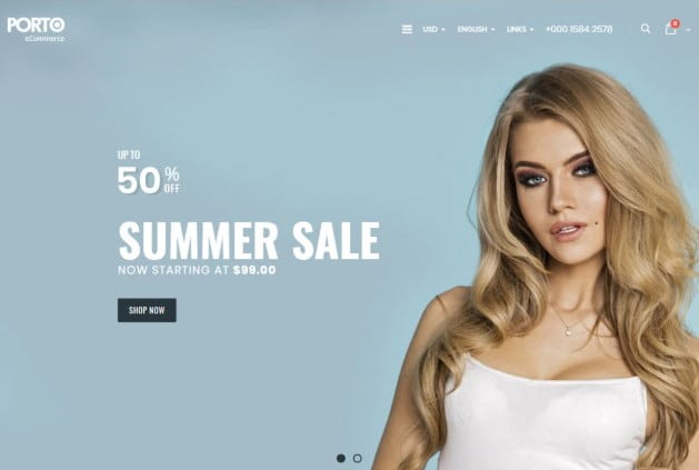 Porto-1 - 35+ Friendly Responsive Dropshipping Shopify Theme [year]