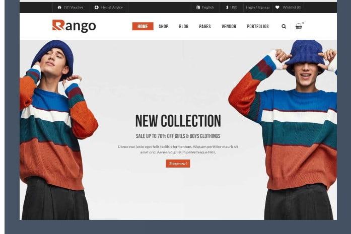 Rango - 51+ Awesome WordPress Lookbook Ecommerce Themes [year]