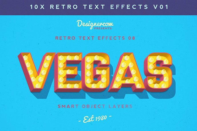 Retro-Text-Effects-V01 - 36+ Amazing Fun & Playful Typography Photoshop Text Effects [year]