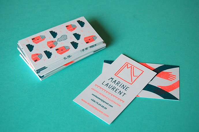 Riso-Business-Cards - 36+ Impressive Business Card Designs With Visual Impact [year]