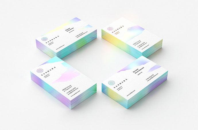 Sandara - 36+ Impressive Business Card Designs With Visual Impact [year]