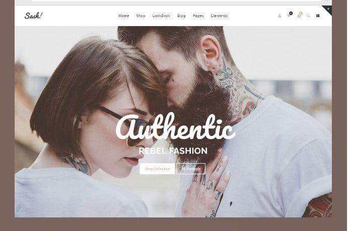 Sash - 51+ Awesome WordPress Lookbook Ecommerce Themes [year]