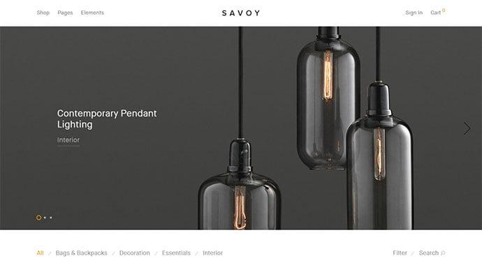 Savoy - 34+ Impressive WordPress Minimal eCommerce Themes [year]