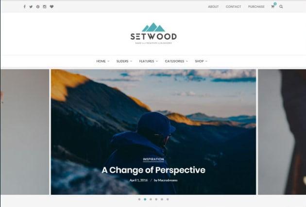 Setwood - 37+ Nice WordPress Photography Blog Themes [year]