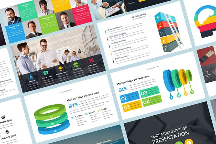 Sleek-Presentation - 36+ Nice PowerPoint Portfolio Showcasing Templates [year]