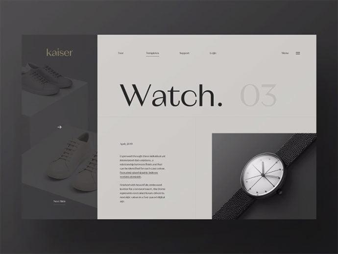 Slideshow - 63+ Incredible Free Black & White Web UI Designs [year]