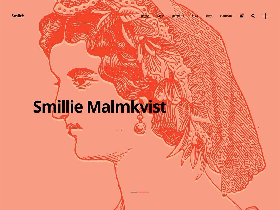 Smilte - 31+ Amazing Artists WordPress Themes [year]