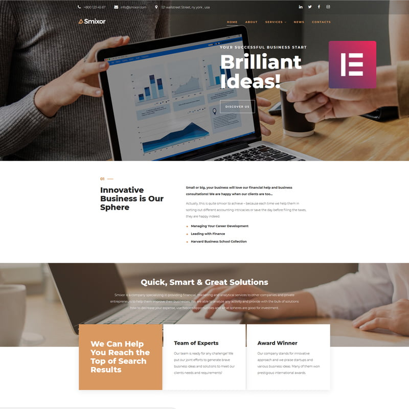 Smixor - Global Leader Together With These 10 Business WordPress Themes! [year]