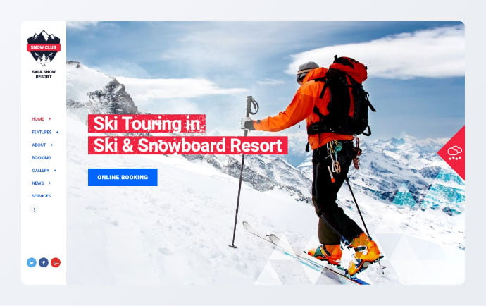 Snow-Club - 34+ Awesome WordPress Club Themes to Create Your Website [year]