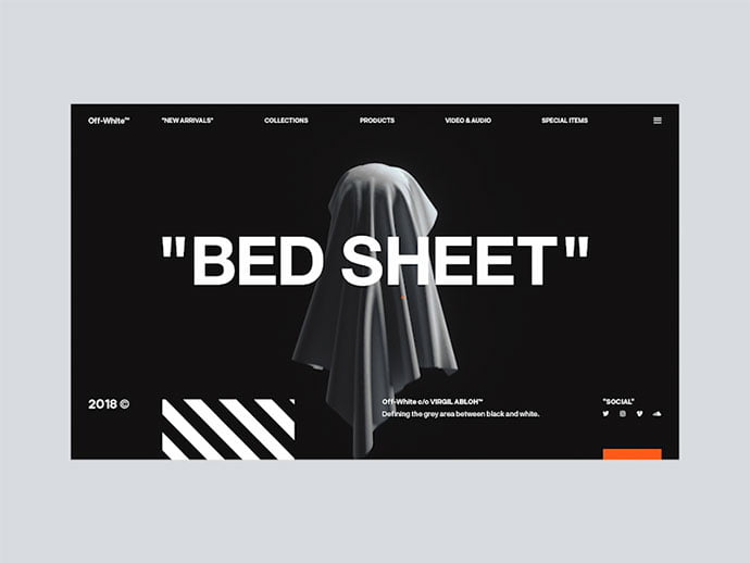 Spooky-Off-White - 63+ Incredible Free Black & White Web UI Designs [year]