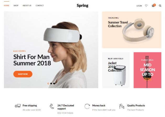 Spring - 35+ Friendly Responsive Dropshipping Shopify Theme [year]