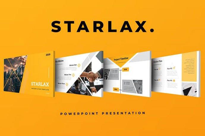 Starlax - 36+ Nice PowerPoint Portfolio Showcasing Templates [year]