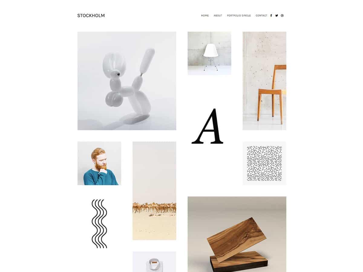 Stockholm - 31+ Amazing Artists WordPress Themes [year]