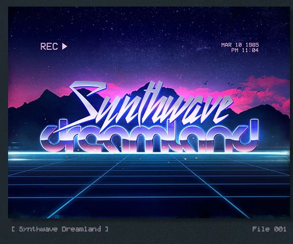 Synthwave-80s-Retro-Text-Effects - 36+ Fantastic Free Mono Fonts For Developer [year]
