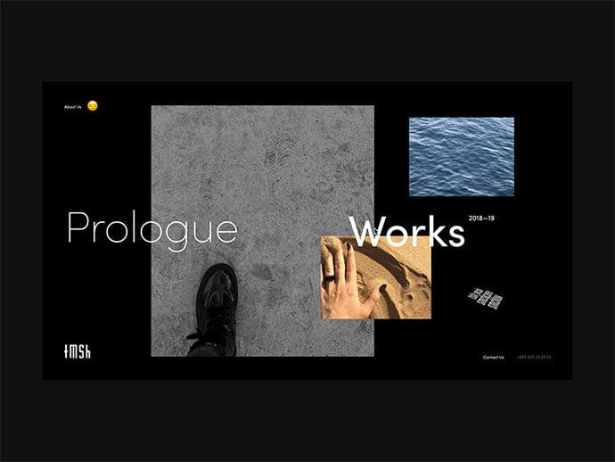 Tamashi-Prologue - 63+ Incredible Free Black & White Web UI Designs [year]