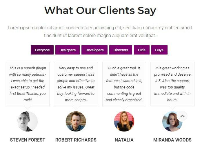 Testimonials - 35+ Important WordPress Portfolio Plugins for Professional [year]