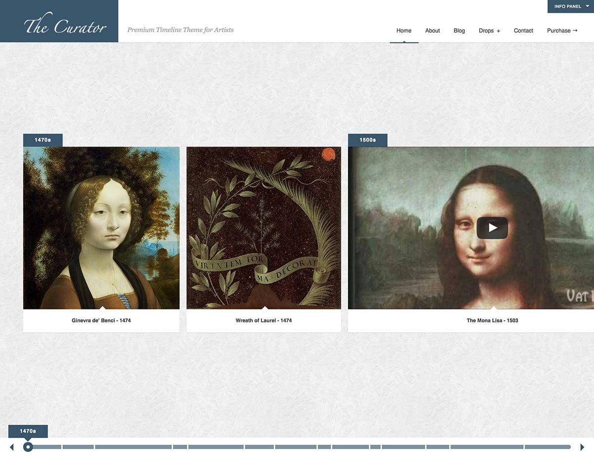 The-Curator - 31+ Amazing Artists WordPress Themes [year]