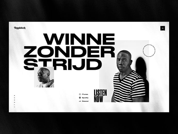 TopNotch-–-Winne - 63+ Incredible Free Black & White Web UI Designs [year]