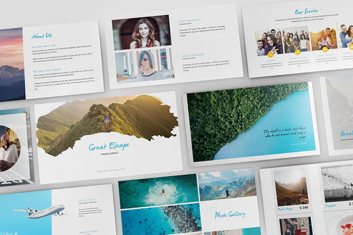 Travel-Agency - 36+ Nice PowerPoint Portfolio Showcasing Templates [year]