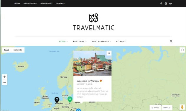 Travelmatic - 37+ Nice WordPress Photography Blog Themes [year]