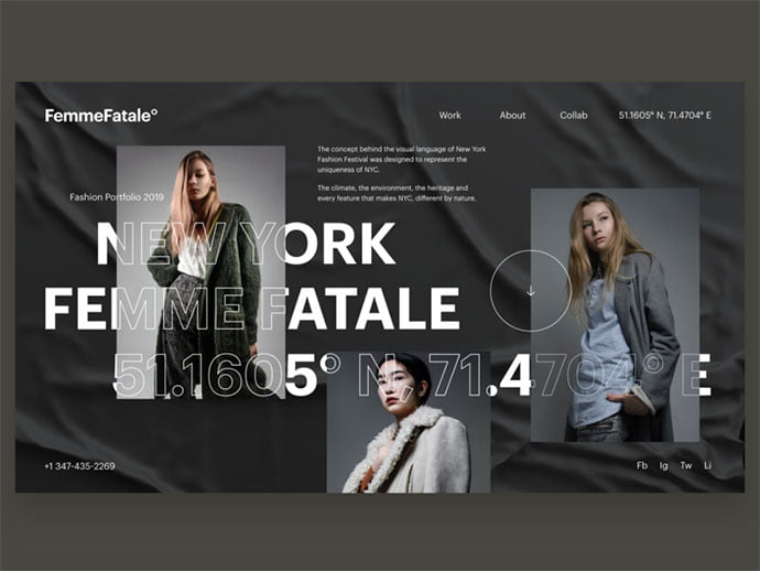 Typography-Composition-Explorations-V3 - 63+ Incredible Free Black & White Web UI Designs [year]