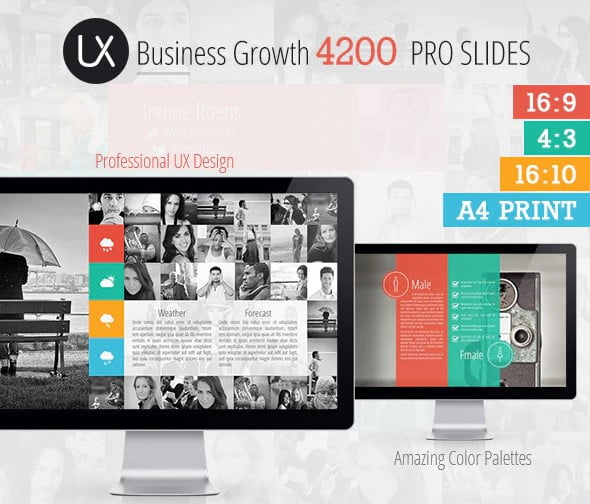 UX-Design-Presentation - 36+ Awesome Business PowerPoint Templates Download [year]