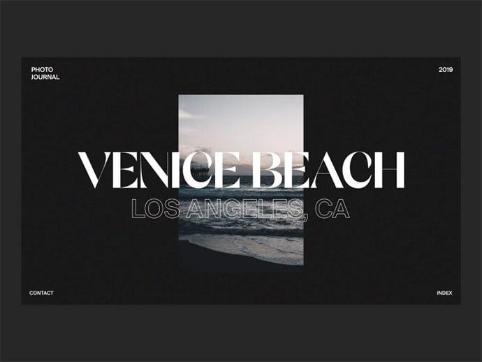 Venice-Photobook - 63+ Incredible Free Black & White Web UI Designs [year]