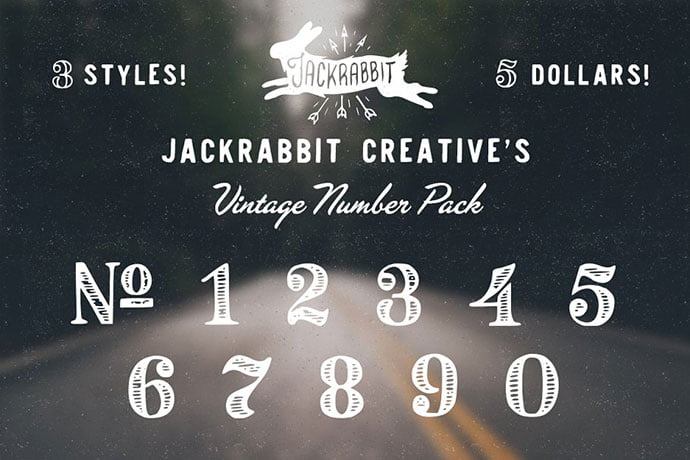 Vintage-Number-Pack - 36+ Best Free Number Fonts For Graphic Designer [year]