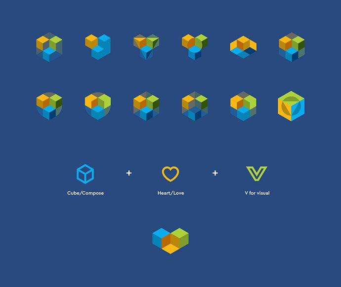 Visual-Composer-Rebrand - 38+ Lovely Isometric Logo Design Sample [year]