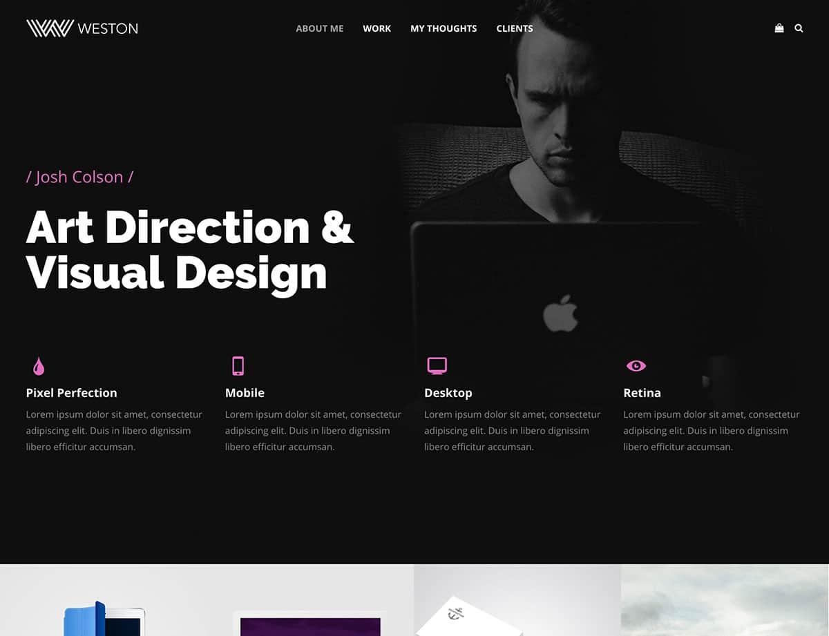 Weston - 31+ Amazing Artists WordPress Themes [year]