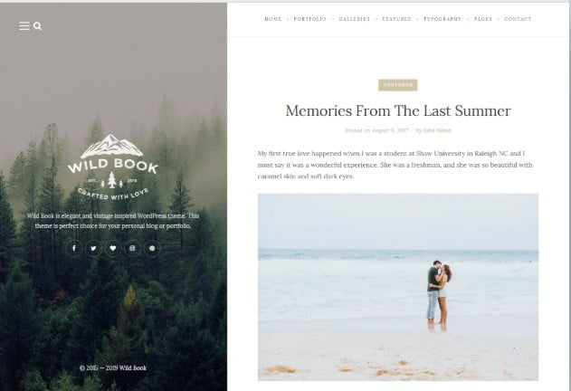 Wild-Book - 37+ Nice WordPress Photography Blog Themes [year]