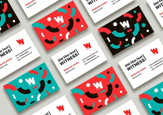 Witness-Fest - 36+ Impressive Business Card Designs With Visual Impact [year]