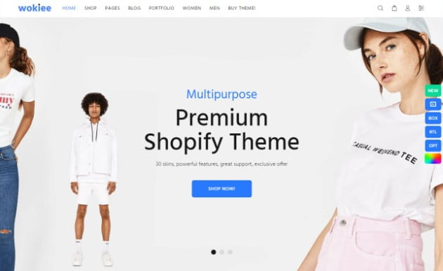 Wokiee - 35+ Friendly Responsive Dropshipping Shopify Theme [year]