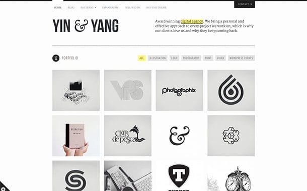 Yin-Yang - 31+ Amazing Artists WordPress Themes [year]