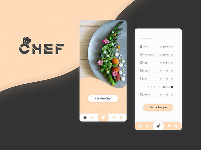 Your-personal-professional - 51+ Stunning Food & Drink Mobile App UI Design Sample [year]