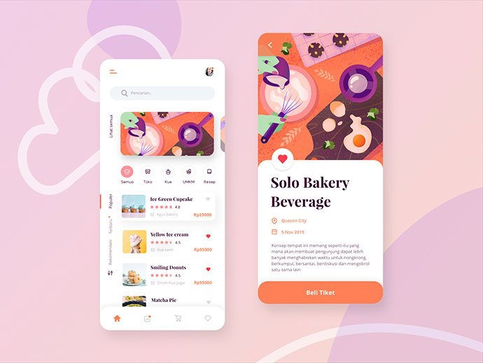 food-drink-app-ui-design-1 - 51+ Stunning Food & Drink Mobile App UI Design Sample [year]