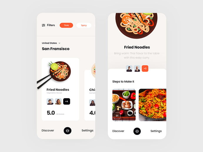 food-drink-app-ui-design-12 - 51+ Stunning Food & Drink Mobile App UI Design Sample [year]