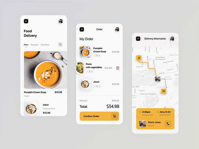 food-drink-app-ui-design-13 - 51+ Stunning Food & Drink Mobile App UI Design Sample [year]