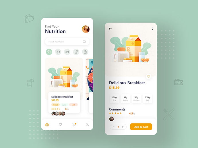 food-drink-app-ui-design-21 - 51+ Stunning Food & Drink Mobile App UI Design Sample [year]