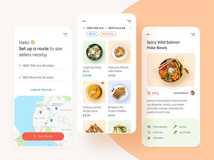 food-drink-app-ui-design-30-1 - 51+ Stunning Food & Drink Mobile App UI Design Sample [year]