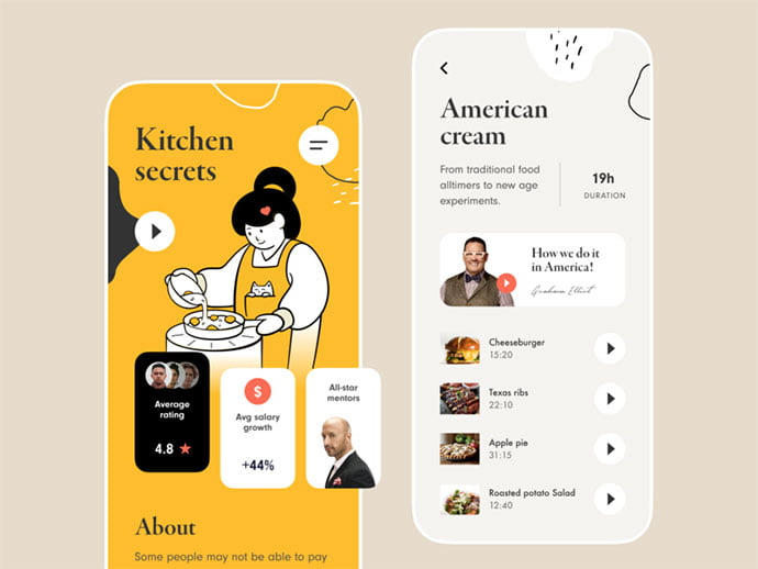 food-drink-app-ui-design-35 - 51+ Stunning Food & Drink Mobile App UI Design Sample [year]
